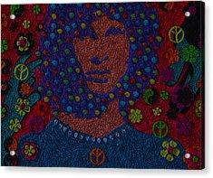 Jim Morrison Behind The Door Acrylic Print