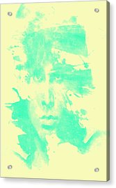 Acrylic Print featuring the digital art Jim Morrison  by Brian Reaves