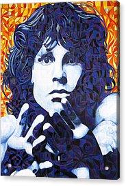 Jim Morrison Chuck Close Style Acrylic Print