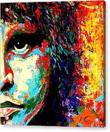 Jim Morrison Acrylic Print by Hugo C Aguilar