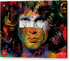 Jim Morrison Acrylic Print by Mark Ashkenazi