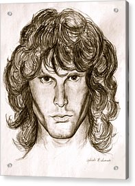 Jim Morrison Acrylic Print by Melinda Saminski