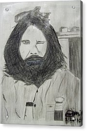 Jim Morrison Pencil Acrylic Print by Jimi Bush
