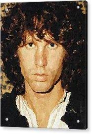 Jim Morrison Portrait Acrylic Print