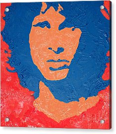 Jim Morrison Seeing Red Acrylic Print