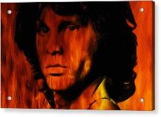 Jim Morrison Acrylic Print by Steve K
