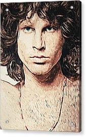 Jim Morrison Acrylic Print by Taylan Apukovska