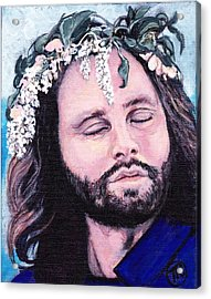 Jim Morrison Acrylic Print by Tom Roderick
