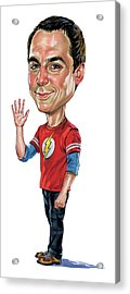 Jim Parsons As Sheldon Cooper Acrylic Print