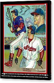 Jim Thome Cleveland Indians Acrylic Print by Ray Tapajna
