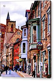 Acrylic Print featuring the photograph Jim Thorpe Pa Stone Row by Jacqueline M Lewis