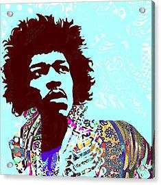 Jimi Acrylic Print by Cindy Edwards