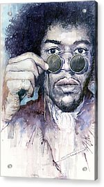 Jimi Hendrix 08 Acrylic Print by Yuriy  Shevchuk