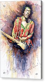 Jimi Hendrix 09 Acrylic Print by Yuriy  Shevchuk