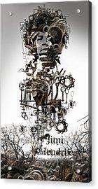 Jimi Hendrix Acrylic Print by Andy Walsh
