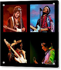 Jimi Hendrix Collection Acrylic Print by Paul Meijering