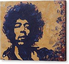 Jimi Hendrix Acrylic Print by David Shannon