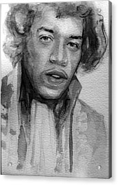 Acrylic Print featuring the painting Jimi Hendrix by Laur Iduc
