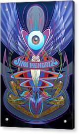 Jimi Hendrix Memorial Acrylic Print