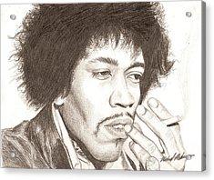 Jimi Hendrix Acrylic Print by Michael Mestas