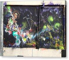 Jimi Hendrix Mural Acrylic Print by Erik Franco