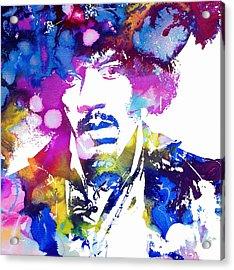Jimi Hendrix - Psychedelic Acrylic Print by Doc Braham