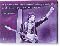 Jimi Hendrix Purp Acrylic Print by Robert Rhoads