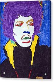 Jimi Hendrix Purple Haze  Acrylic Print by Stormm Bradshaw
