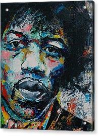 Jimi Hendrix Acrylic Print by Richard Day
