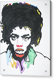 Acrylic Print featuring the painting Jimi Hendrix by Stormm Bradshaw