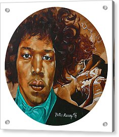 Jimi Hendrix W Acrylic Print
