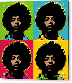 Jimi Hendrix 4-up Acrylic Print