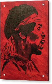 Jimi Acrylic Print by Mark Greenhalgh