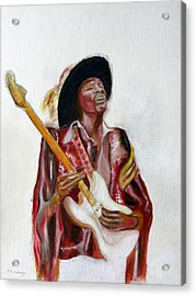 Jimi Acrylic Print by Tom Conway