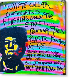 Jimi's Freak Flag Acrylic Print by Tony B Conscious