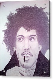Jimmi Hendrix Acrylic Print by Aileen Carruthers