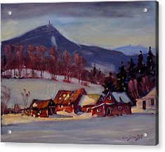 Acrylic Print featuring the painting Jimmie's Place by Len Stomski