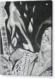 Jimmy Hendrix Acrylic Print by Aaron Balderas