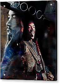 Jimmy Hendrix Acrylic Print by Lynda Payton