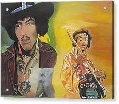 Jimmy Hendrix Acrylic Print by Patrick Hunt