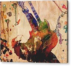 Jimmy Page - Led Zeppelin Acrylic Print by Ryan Rock Artist