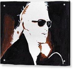 Jimmy Page 2 Acrylic Print by Audrey Pollitt