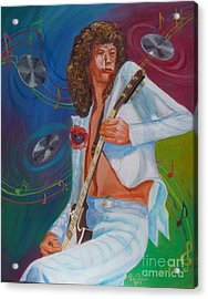 Jimmy Page 2 Acrylic Print by To-Tam Gerwe