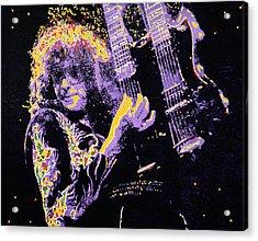 Jimmy Page Acrylic Print by Barry Novis