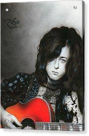 ' Jimmy Page ' Acrylic Print by Christian Chapman Art