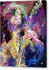 Jimmy Page Electric Acrylic Print by David Lloyd Glover