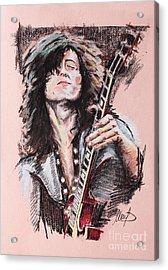 Jimmy Page Acrylic Print by Melanie D