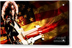 Jimmy Page Of Led Zeppelin Acrylic Print