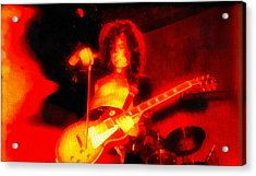 Jimmy Page On Fire Acrylic Print