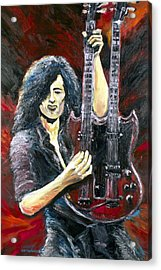 Jimmy Page The Song Remains The Same Acrylic Print by Mike Underwood